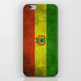 Old and Worn Distressed Vintage Flag of Bolivia iPhone Skin