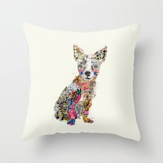 the mod chihuahua Throw Pillow