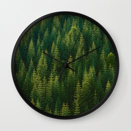 The Green Forest (Color) Wall Clock
