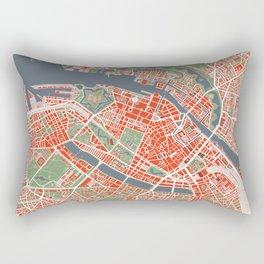 Copenhagen city map classic Rectangular Pillow