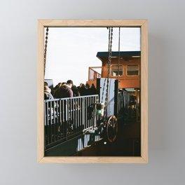 ferry on film Framed Mini Art Print