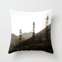 sunset in angeles crest forest Throw Pillow