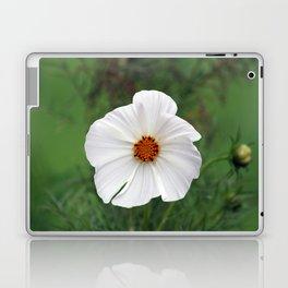 White Wildflower macro Laptop & iPad Skin
