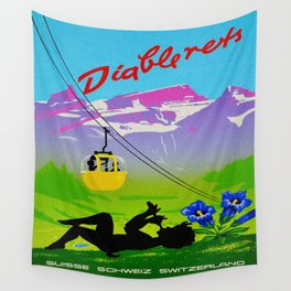 Diablerets Mountain Swiss Alps Travel Wall Tapestry