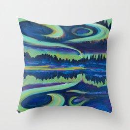 Yellowknife Aurora Throw Pillow