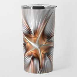 Elegance of a Flower, modern Fractal Art Travel Mug