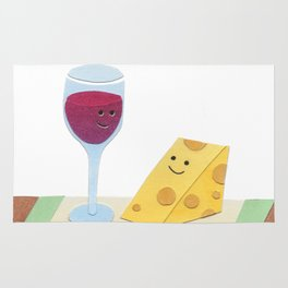 Wine and Cheese, Please Rug