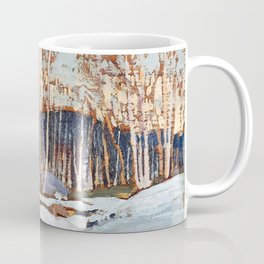 Tom Thomson ‑ Birches - Canada, Canadian Oil Painting - Group of Seven Coffee Mug