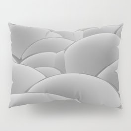 grey 3D Spheres crossover Pillow Sham