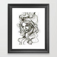 girls in the hair 1 Framed Art Print
