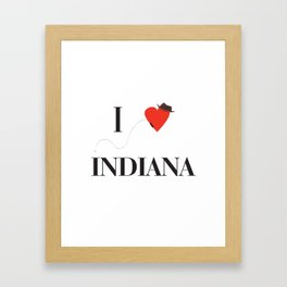 I heart Indiana Framed Art Print