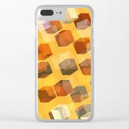 transparent cubes Clear iPhone Case