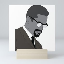 Malcolm X. By Any Means. Poster. Print. Case Mini Art Print