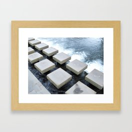 Stepping Stone Framed Art Print