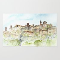 italy Area & Throw Rugs featuring Lucignano, Italy by zawij