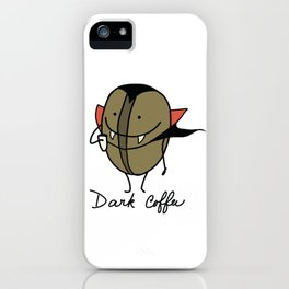 Dark coffee iPhone Case