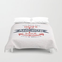 """Anchor for the Soul"" Hand-lettered Bible Verse Duvet Cover"