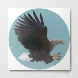 Polygonal Eagle Metal Print