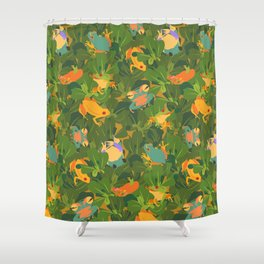 Froggy forest Shower Curtain