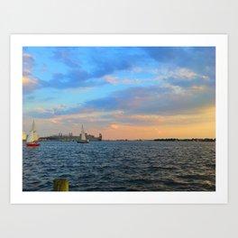 Caton Waterfront: Round 2 Art Print