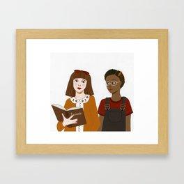 Matilda & Lavender Framed Art Print