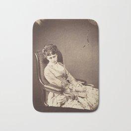 Photograph by Lewis Carroll, The Last Sitting, 1870 Bath Mat