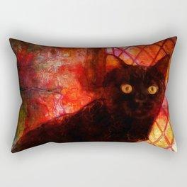 Staring Cat  Rectangular Pillow