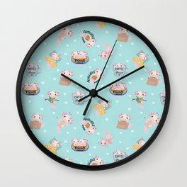 Axalotls - little friends Wall Clock