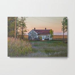 Curious Farmstead, North Dakota 4 Metal Print