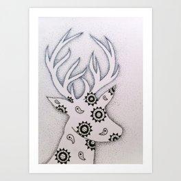 Moon & Sun Deer  Art Print