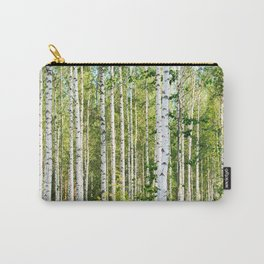 Sunny Day in Beautiful Birch Grove Landscape #decor #society6 #buyart Carry-All Pouch
