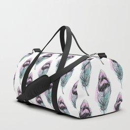 AP078 Watercolor feather Duffle Bag