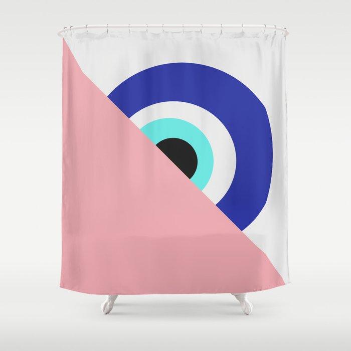 Devil eye pink hide Shower Curtain