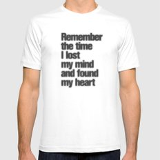 Remember The Time... White SMALL Mens Fitted Tee