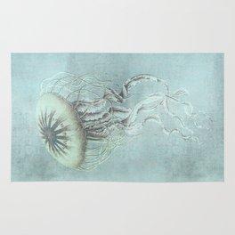 Jellyfish Underwater Aqua Turquoise Art Rug