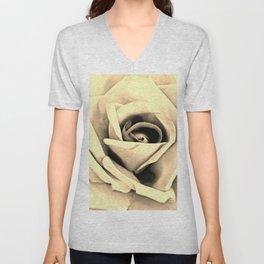 Modern Buttery Yellow Cream Rose Flower Art A266g Unisex V-Neck