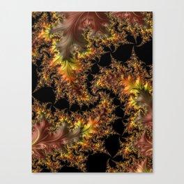 Autumn Leaves yellow brown orange Fractal Canvas Print