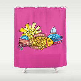 Happy Hammour (Grouper) Shower Curtain