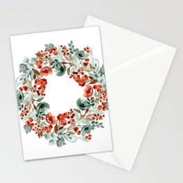 Rust and Blue Stationery Cards