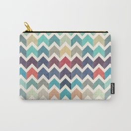 Watercolor Chevron Pattern Carry-All Pouch