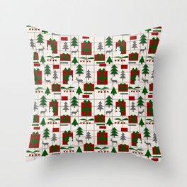 Festive Christmas mood Throw Pillow