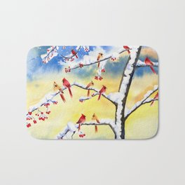 Winter Song 2 Bath Mat