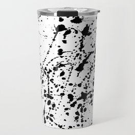 Splat Black on White Travel Mug