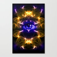all seeing eye Canvas Prints featuring All seeing eye by Cozmic Photos