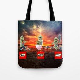EAT SHIT RUN CYCLOPS LEGO Tote Bag