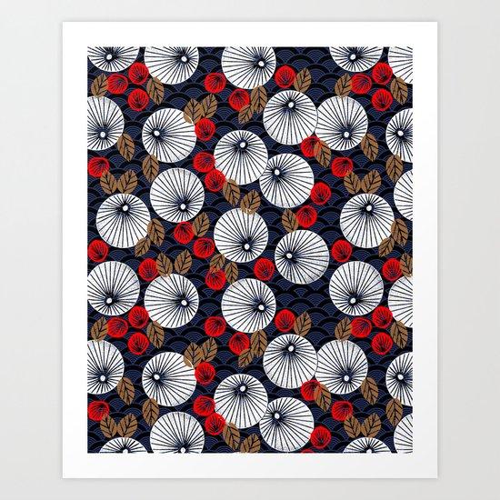 Parasol Garden Art Print