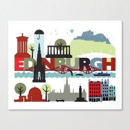 Edinburgh landmarks & monuments  Canvas Print