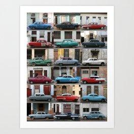 Cuba Cars - Vertical Art Print