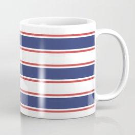 Nautical Red and Blue Stripes Coffee Mug