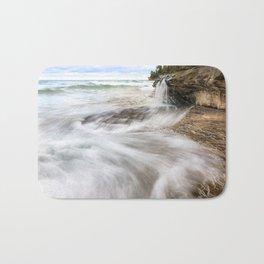 Elliot Falls on Miners Beach - Pictured Rocks, Michigan Bath Mat